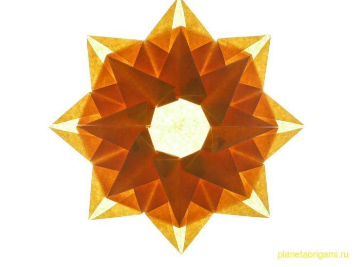 Оригами солнце от Mélisande