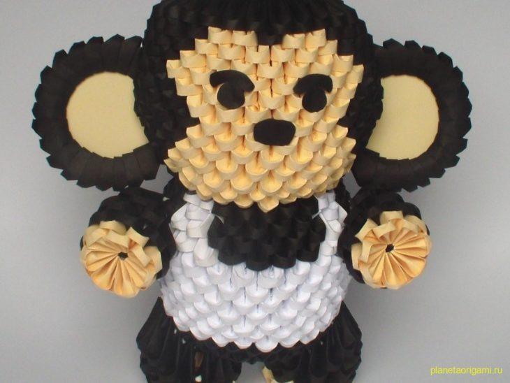 Голова обезьяны оригами