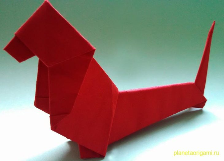 Такса оригами
