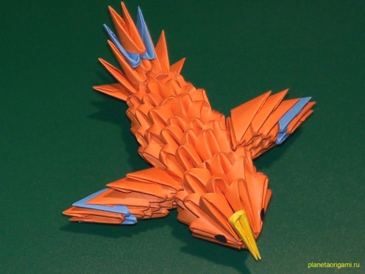 Канарейка оригами