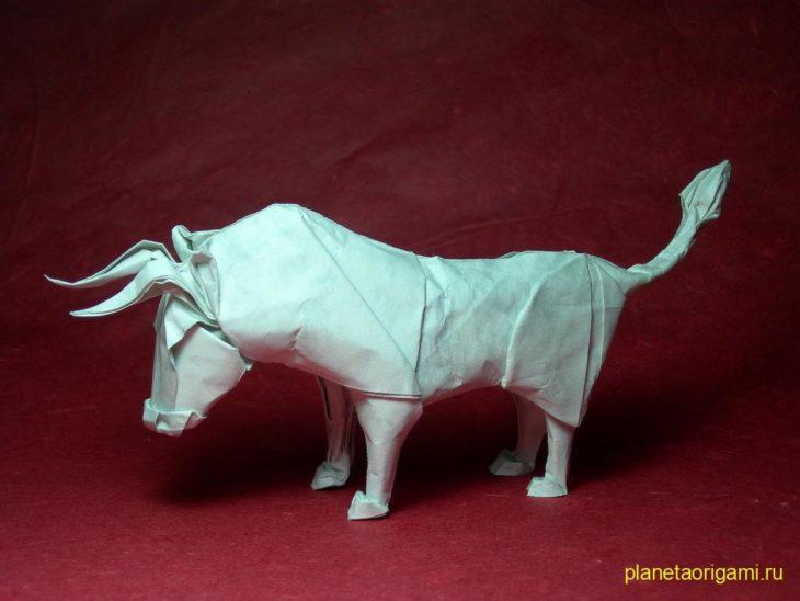 Буйвол оригами