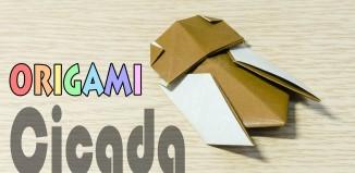 Цикада из бумаги: оригами для детей