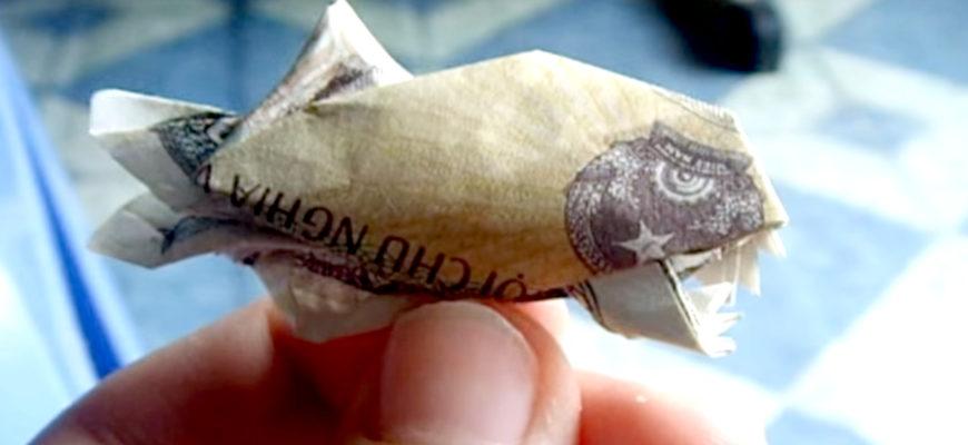 Оригами пиранья по схеме Данг Вьет Тана (Dang Viet Tan)