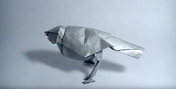 Оригами певчая птица по схеме Роберта Лэнга (Robert Lang)