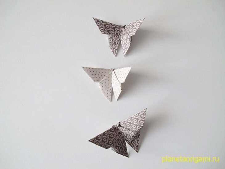 Объемная киригами бабочка
