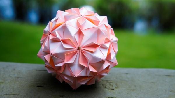 Кусудама Снапология (Snapology Icosahedron) по схеме Heinz Strobl