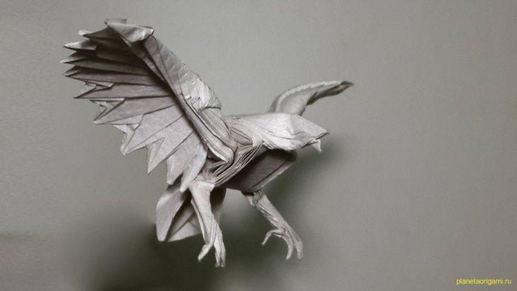 Оригами орел от Lazy Paper