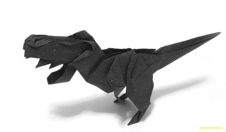 Оригами T-Rex от Kade Chan
