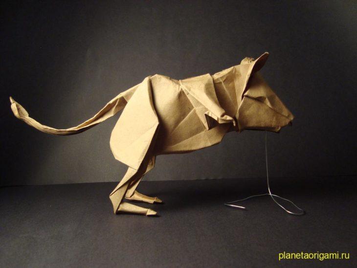 Оригами тушканчик по схеме Lionel Albertino