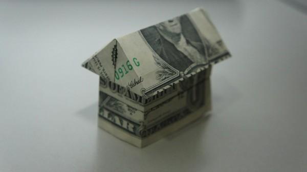Домик оригами из долларовых купюр от Jo Nakashima
