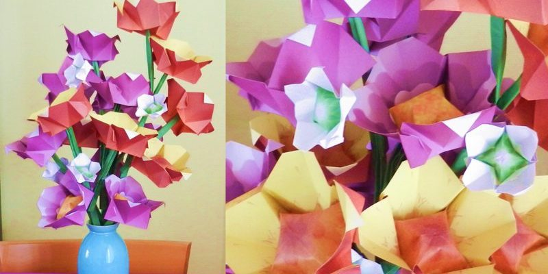 Простой оригами цветок от Joost Langeveld