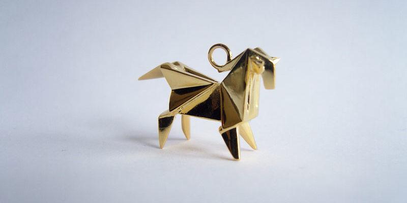Украшения из золота и серебра в стиле оригами