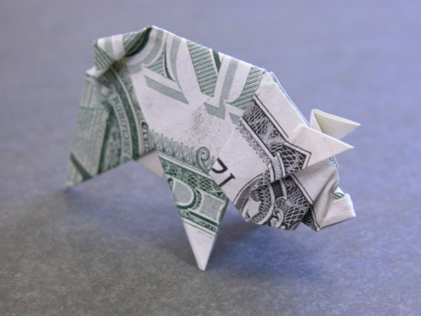 Оригами из денег от Craig Sonnenfeld
