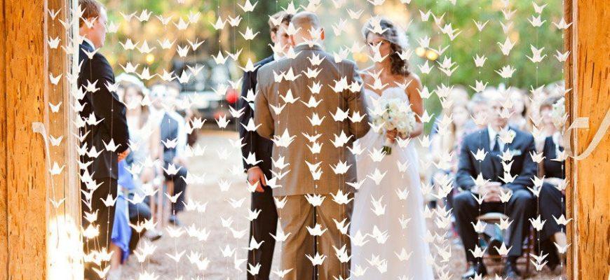 Оригами на свадьбу