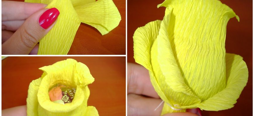 Роза из бумаги по схеме Jordi Adell