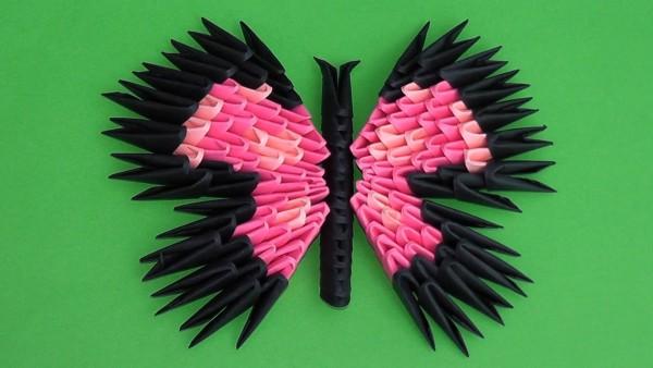 Бабочка в технике «модульное оригами»