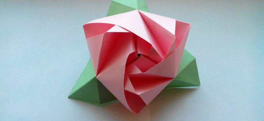 Роза «Андреа» из бумаги