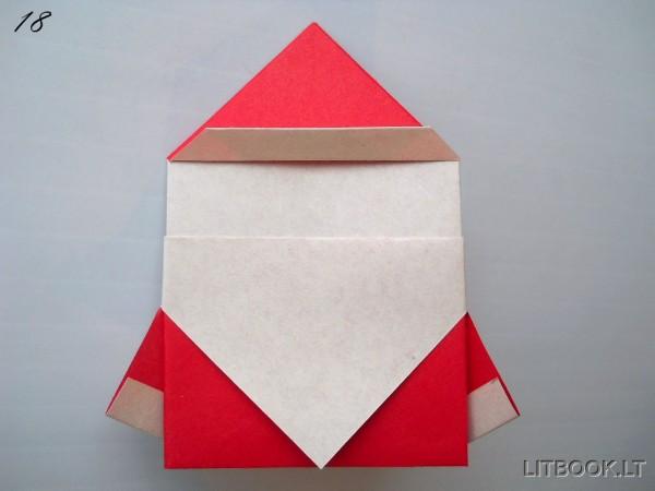 Оригами «Дед Мороз»