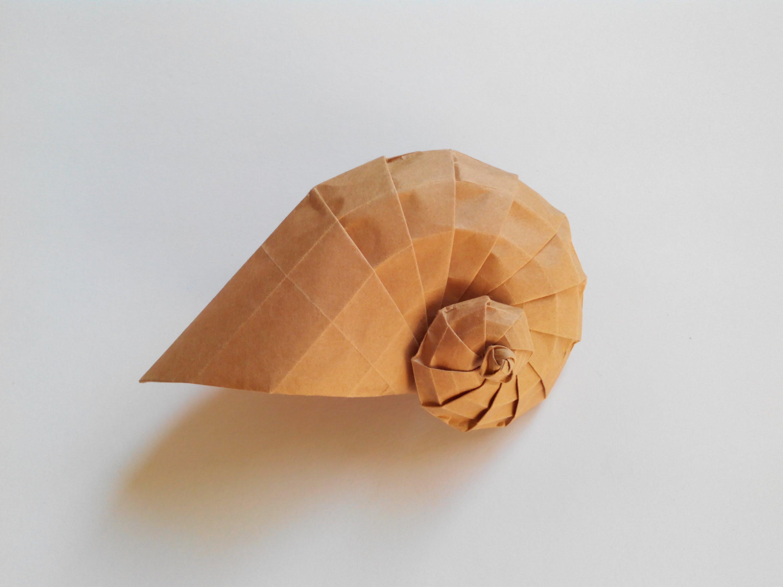 Оригами ракушка по схеме Tomoko Fuse