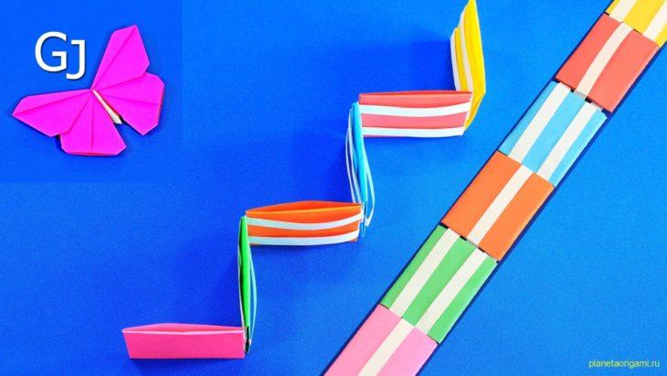 Лестница Якоба — фокус (иллюзия) из бумаги