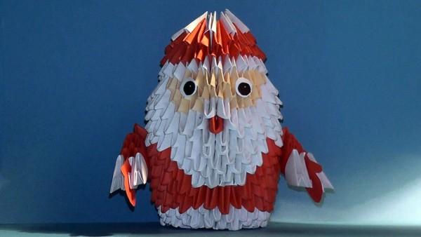 Дед Мороз из треугольных модулей