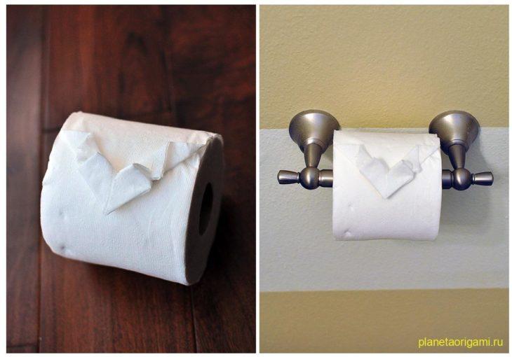 Сердце из туалетной бумаги
