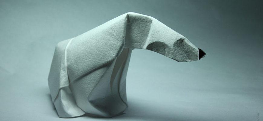Полярный медведь из бумаги
