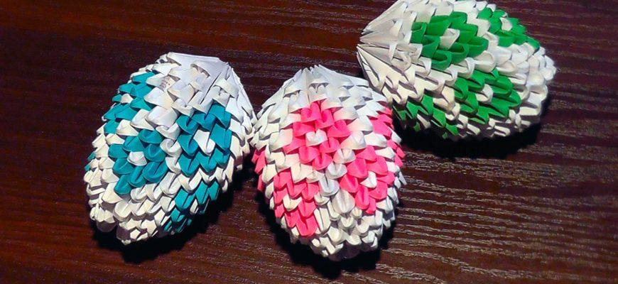 Модульное оригами: пасхальное яйцо схема сборки