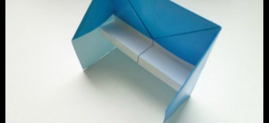 Оригами пианино из бумаги
