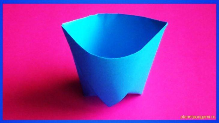 Стаканчик оригами, схема сборки