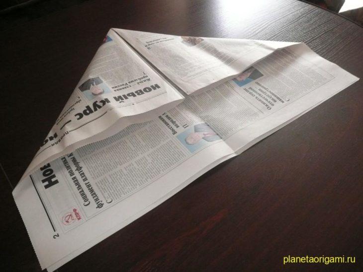 Оригами шапка из газеты
