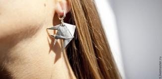 Необычные оригами сережки