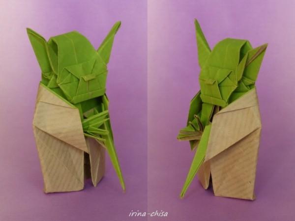 Мастер «Йода» из бумаги (Fumiaki Kawahata)