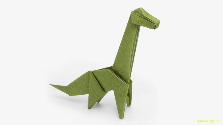 Бумажный динозавр T-Rex по схеме Jo Nakashima