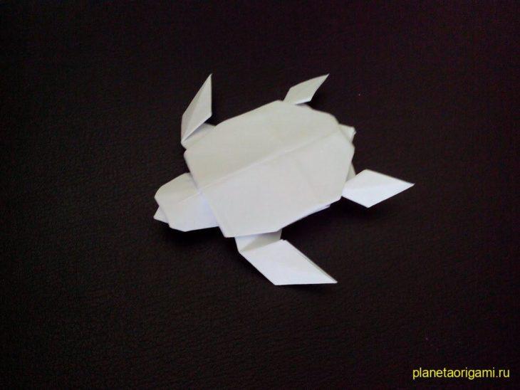 Оригами черепаха по схеме Robert J. Lang