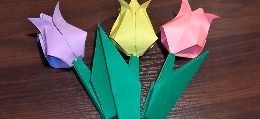 Оригами цветок ириса. Видео схема от мастера Tadashi Mori
