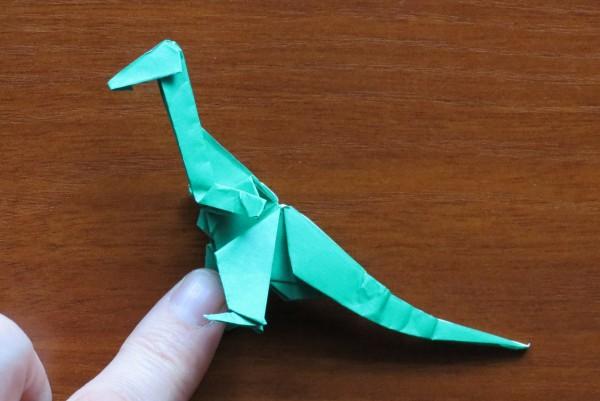 Живой оригами динозавр