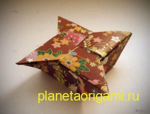 Коробочка санбо оригами. Фото схема