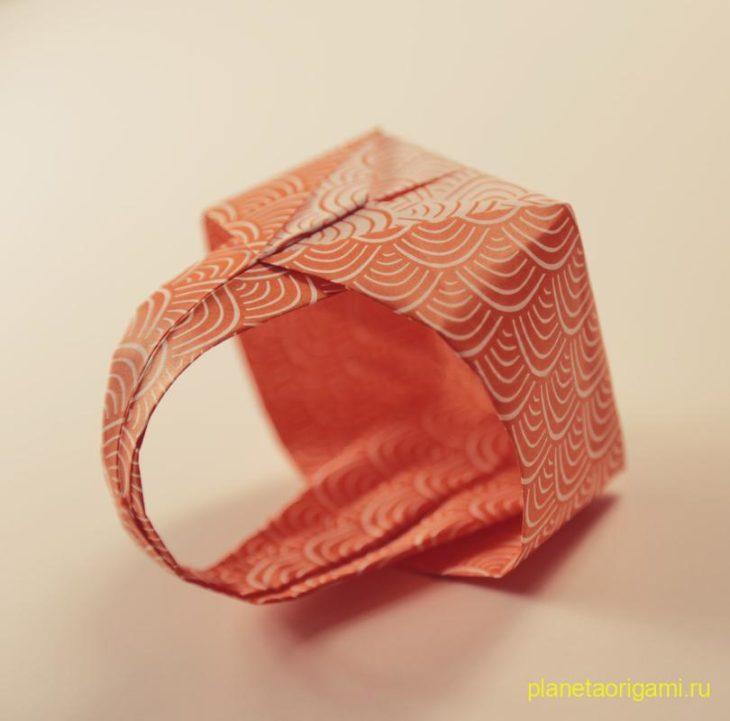 Декоративная корзинка оригами
