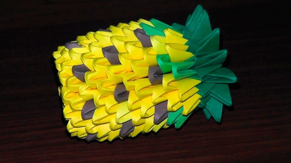 Собираем оригами ананас