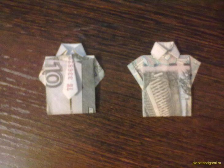 562a471d62fa0 Как сделать рубашку из денег, оригами рубашка из денег, как сделать рубашку из купюры и как сделать рубашку с галстуком