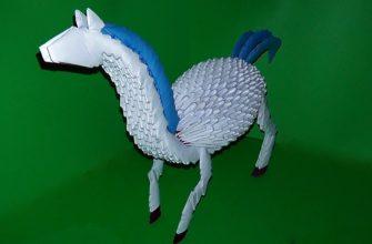 Собираем лошадь оригами, видео мастер класс