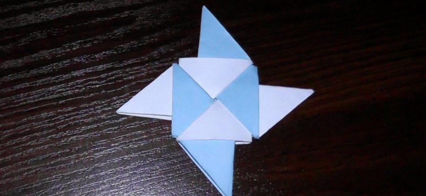 Оригами сюрикен ниндзя