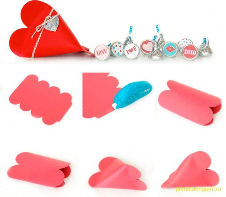 Секретное сердечко-сюрприз из бумаги (просто и креативно)