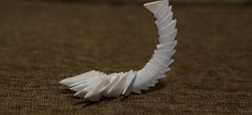 Оригами скорпион. Видео от Егора Гаврилкова