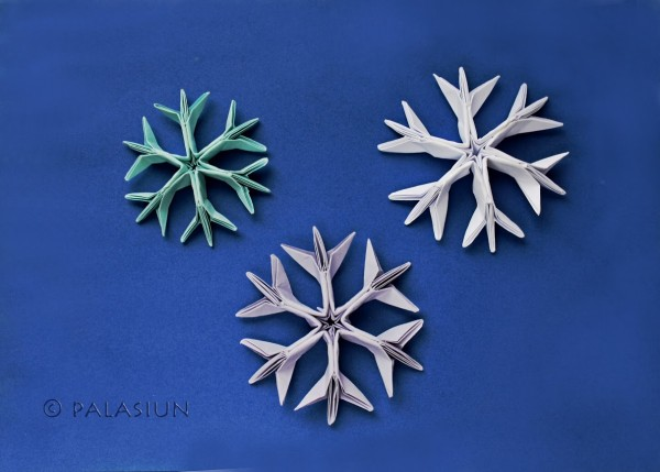 Вариант снежинки из бумаги от Jared Needle