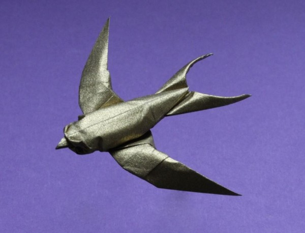 Оригами ласточка по схеме Сифо Мабоны (Sipho Mabona)