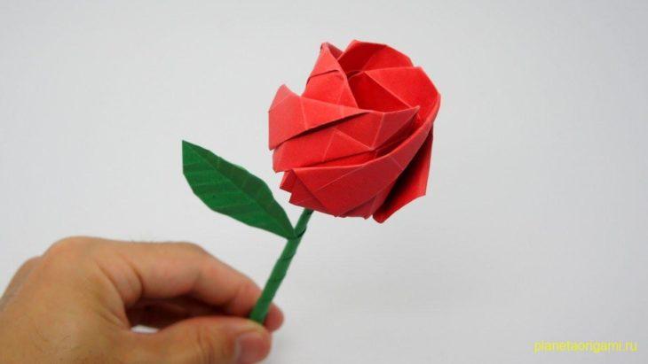 Оригами роза
