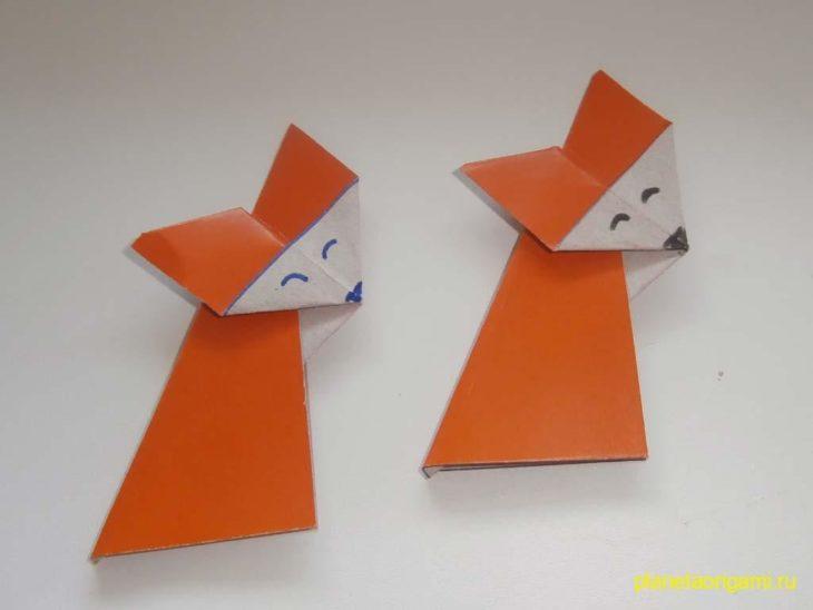 Поделки из бумаги для детей: Лиса из бумаги