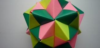 Звездный шар из модулей сонобе